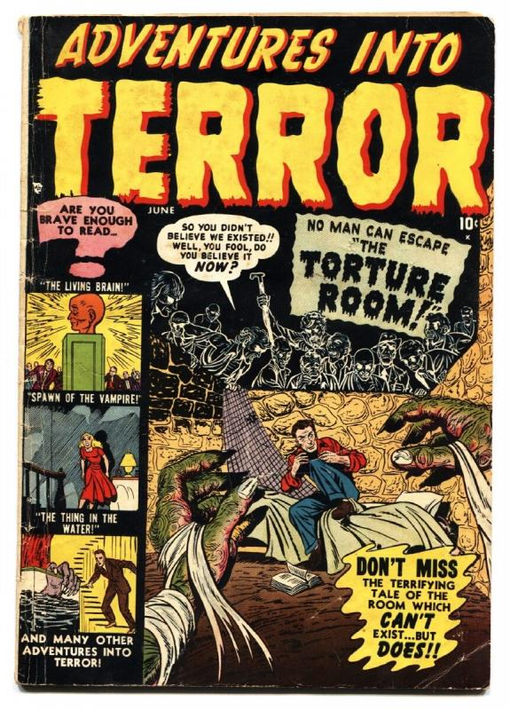 ADVENTURES INTO TERROR #4 pre-code 1951-atlas-horror-vampires
