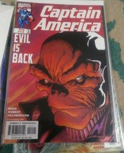 Captain America # 14 1999 marvel  steve rogers  red skull evil is back