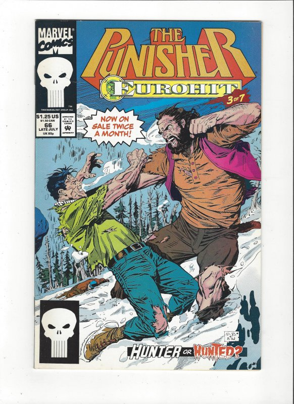 The Punisher #66 (1987)  Eurohit 3 of 7 Marvel Comics NM