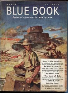 BLUE BOOK PULP-MARCH 1942-VG/FN-STOOPS COVER-BEDFORD-JONES-SURDEZ-MORRIS VG/FN