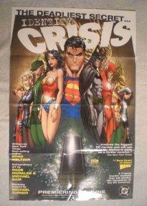 IDENTITY CRISIS Promo Poster, 22x34, 2004, Unused, Wonder Woman, Superman