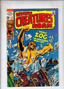 Where Creatures Roam #6 (May-71) FN/VF Mid-High-Grade Zog