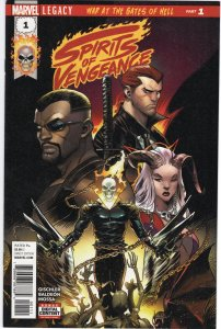 Spirits of Vengeance #1  War at the Gates of Hell With Marvel Stamp