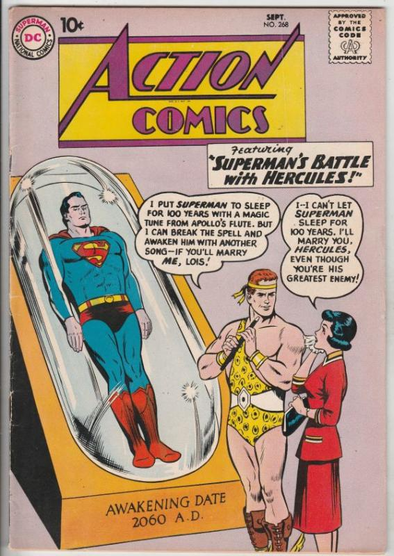 Action Comics #268 (Oct-60) FN/VF+ High-Grade Superman, Supergirl
