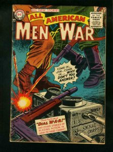 ALL AMERICAN MEN OF WAR #26 1955-WWII ACTION-COMBAT-TOMMY GUN- good cond G