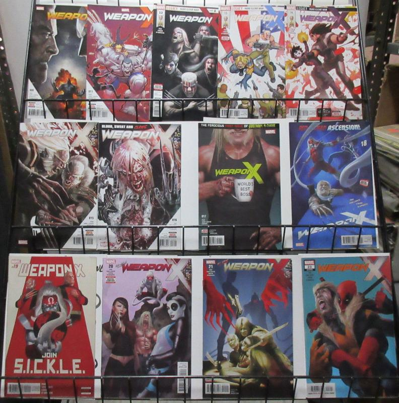 Weapon X (Marvel 2017) #9-23 Lot of 13Diff Sabretooth + Old Man Logan Teammates?
