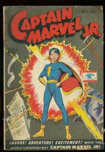 CAPTAIN MARVEL JR #33 1945-ROBOT BATTLE-WW II ERA ISSUE G