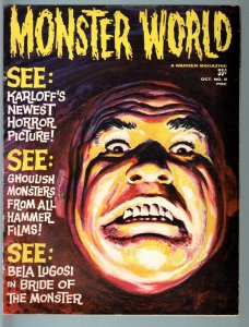 MONSTER WORLD #5-1965-HAMMER HORROR FILMS-BORIS KARLOFF-GRAY MORROW COVER- VG/FN
