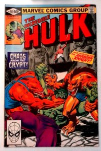 Incredible Hulk #257 Marvel 1981 FN/VF Bronze Age Comic Book 1st Print