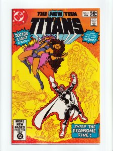 The New Teen Titans #3 1st Appearance Fearsome Five DC Comics 1981 NM