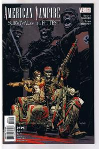 AMERICAN VAMPIRE : Survival of the Fittest #4, Vertigo, 2010, NM-, Sean Murphy