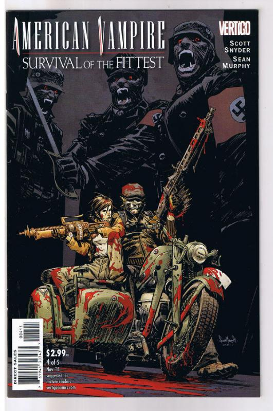 AMERICAN VAMPIRE : Survival of the Fittest #4, Vertigo, 2010, NM-, Sean Murphy