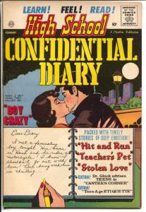 High School Confidential Diary #5 1961-Boy Crazy-rare misprint copy-FN