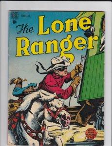 The Lone Ranger 8 VG/VG+ Origin Retold, Begin Indian B/C (Dell Feb. 1949)