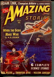 Amazing Stories 7/1940-Eando Binder-Robert Fuqua-pulp thrills-G/VG