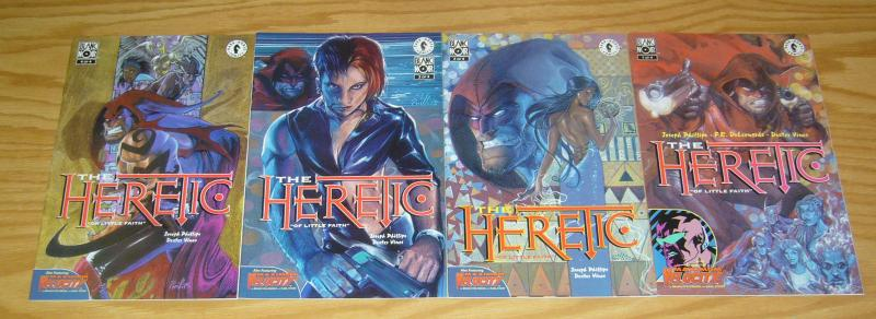 the Heretic #1-4 VF/NM complete series - dark horse comics - blanc noir set lot