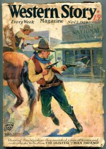 Western Story Pulp November 2 1929- Duster- Max Brand VG-