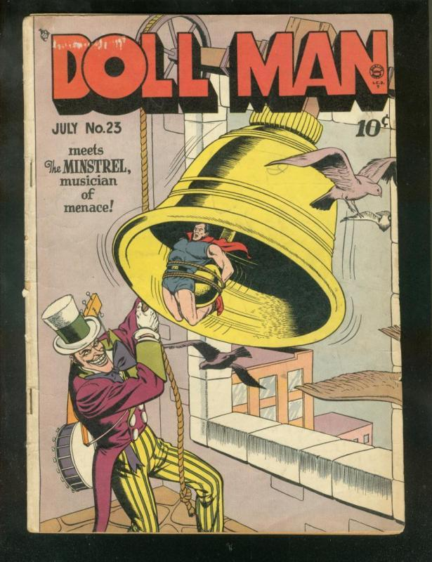 DOLL MAN #23 1949-THE MINSTREL-TORCHY BY BILL WARD-RARE VG
