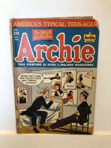Archie Comics #20 G+ 2.5 golden age 1946 CLASSIC magazine JUGHEAD riverdale