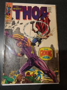 Thor 140 GVG (3.0) 5/67 1st Growing Man! Kirby cover and artwork! VF