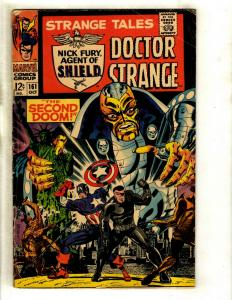 Strange Tales # 161 FN Marvel Comic Book Doctor Strange Nick Fury Shield GK3