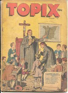 Topix Vol. 7 #5 1948-Debbura - The Joan of Arc of The Testament-rare-G