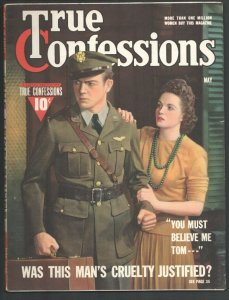 True Confessions 5/1942-Fawcett-Military photo cover-Vice In War Time-Scand...