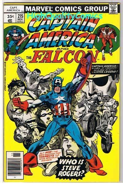 CAPTAIN AMERICA #215, FN,  George Tuska, Falcon, 1968, Who is Steve Rogers