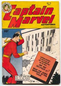 CAPTAIN MARVEL ADVENTURES #74 1947- Golden Age FN