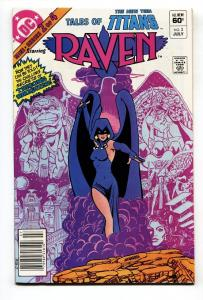 TALES OF THE NEW TEEN TITANS #2 RAVEN origin comic book  DC