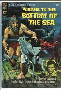 VOYAGE TO THE BOTTOM OF THE SEA #4 1966-GOLD KEY-TV-BASEHART-HEDISON-fn/vf