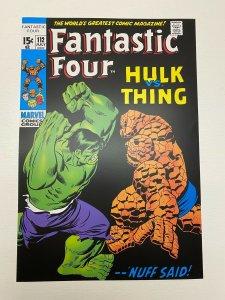 Fantastic Four #112 Hulk Vs Thing Marvel Comics poster by John Buscema