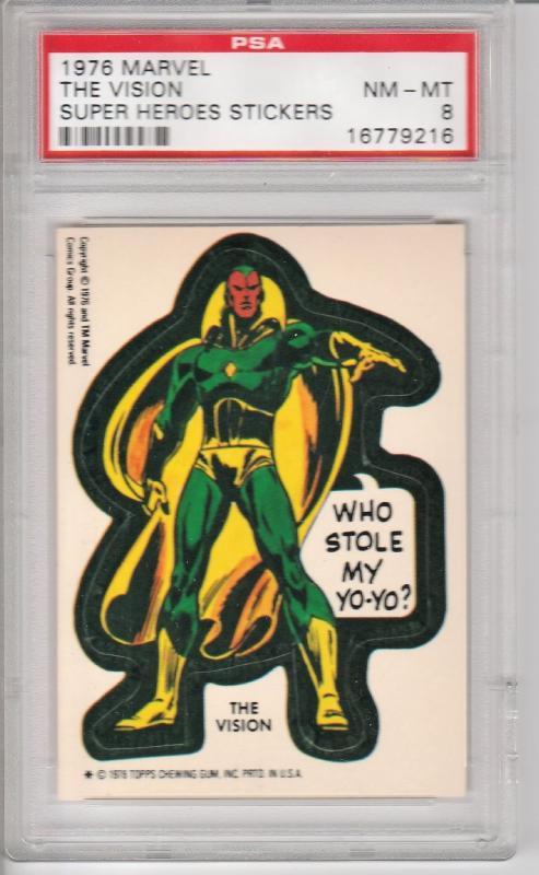 1976 Marvel Vision Sticker PSA 8 (NM-MT)