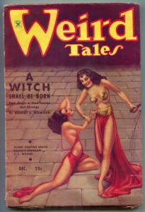 Weird Tales Pulp 12/1934- BRUNDAGE COVER- Witch Shall Be Born