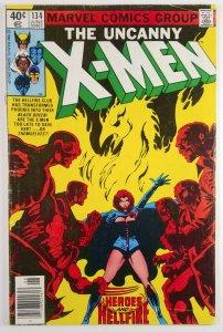 The Uncanny X-Men #134 - 1ST APP DARK PHOENIX - Newsstand - Good - Marvel 1980