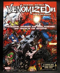 Venomized #1 30th Anniversary Web of Venom Fold Out Promo Poster Board - New!