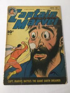 Captain Marvel Adventures 52 Vf Very Good 4.0 1st The Son Of Sivanna Fawcett