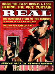 REAL MAGAZINE APRIL 1962-GEORGE GROSS-AFRICAN ORGY-VF+