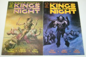 Robert E. Howard's Kings of the Night #1-2 complete series - john bolton set lot