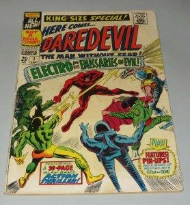 Daredevil King Size Annual #1 VG- 1967 Marvel Silver Age Comic Book Electro Evil