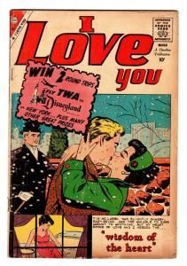 I LOVE YOU #27 1960 CHARLTON ROMANCE-DISNEYLAND-RARE