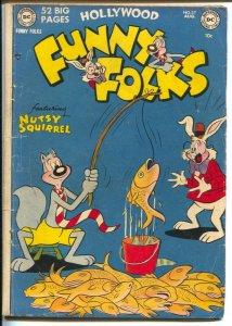 Hollywood Funny Folks #37 1951-DC- Nutsy Squirrel-Dizzy Dog-Sheldon Mayer -VG