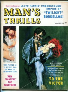 Man's Thrills 6/1961-Cape-Hitler-orgy-hardboiled-Hugh O'Brian-cheesecake VG