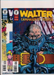 Lot of 2-Dark Horse Comics WALTER Campaign of TERROR #1 & #2  VERY FINE (SRU115)