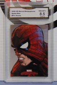 2008 Upper Deck Marvel Masterpieces Spider-Man #P11 Promo Card - Graded 8.5