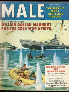 MALE MAGAZINE AUG 1961-THRILLING RESCUE-LACEY KELLY-WW2 FN