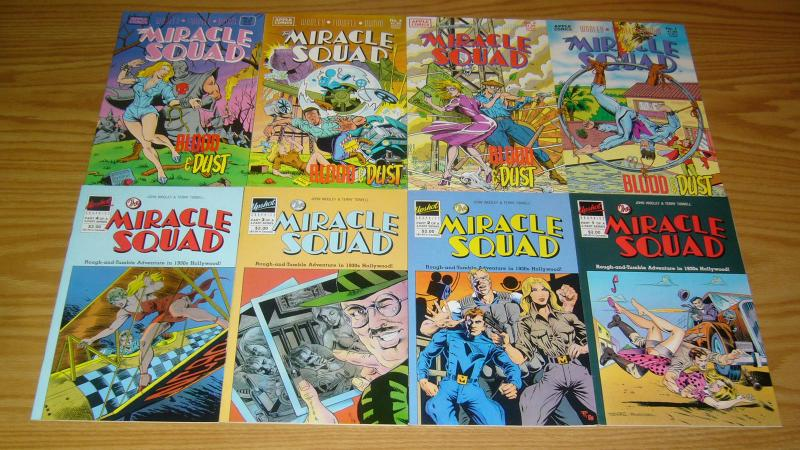 Miracle Squad #1-4 VF/NM complete series + blood & dust #1-4 1930s hollywood set