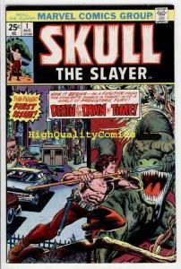 SKULL the SLAYER 1, Death at Dawn, VF, 1975, Gil Kane, Origin, Dinosaurs