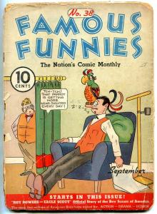 Famous Funnies #38 1937- BUCK ROGERS pin-up- POOR