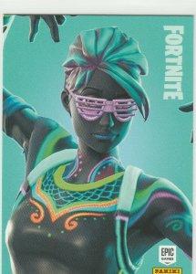 Fortnite Nitelite 131 Uncommon Outfit Panini 2019 trading card series 1